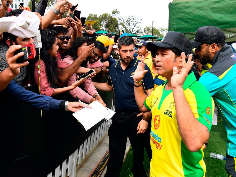 Tendulkar was facing Australia's star all rounder and 2019 Women's Cricketer of the Year Ellyse Perry in the over and Annabel Sutherland. He said while walking up to the pitch that it was the first time in five years that he was picking up a bat and the 46-year-old ended up hitting a four off the first ball he faced.