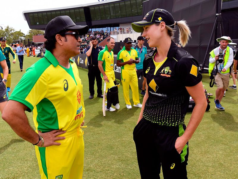 Tendulkar was on hand to pass on his wisdom to Australia's Ellyse Perry