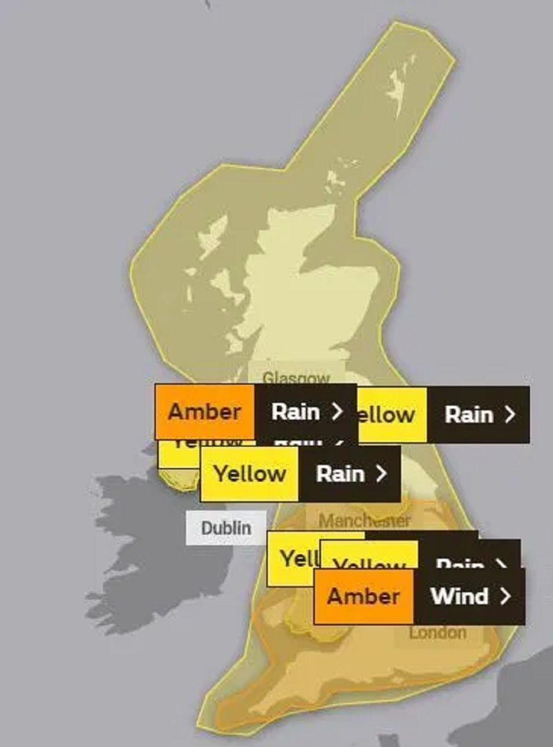 Wind warnings UK Storm Ciara