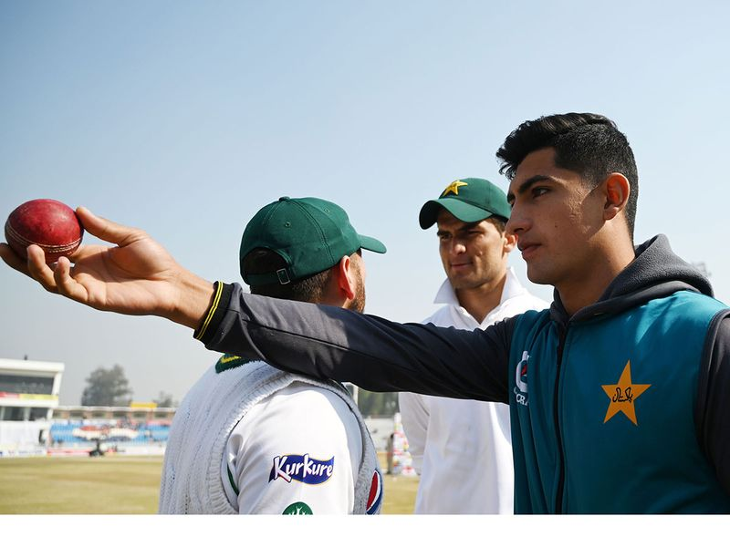 16-year-old Naseem Shah was named man of the match after becoming the youngest bowler to claim a test hat-trick on Sunday