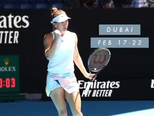 Simona Halep has confirmed she will play in Dubai