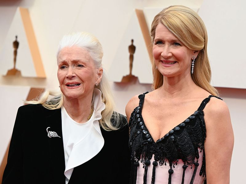 US actress Laura Dern with mom actress Diane Ladd
