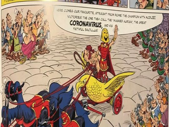 Uncanny! Asterix comic featured masked villain 'Coronavirus' in the year 2017