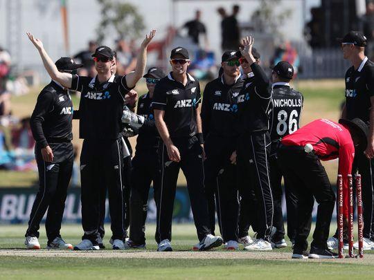 New Zealand celebrate their whitewash of India