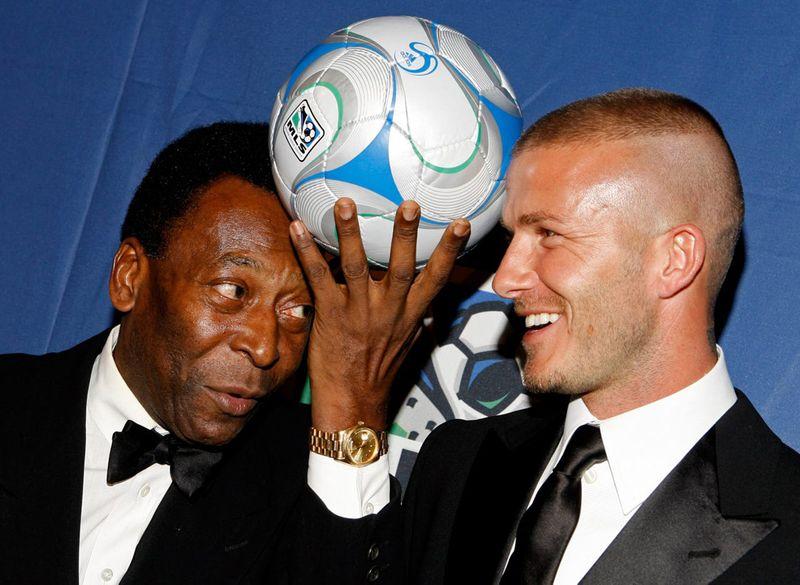 Pele and David Beckham