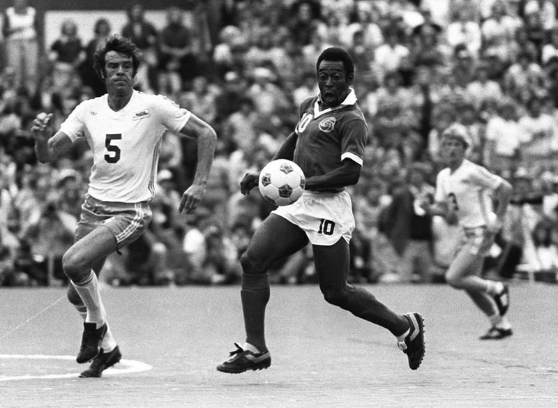 Pele in action for NY Cosmos