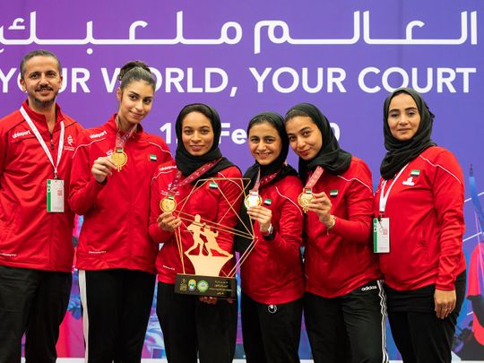 UAE fencers picked up four gold, three silver and a couple of bronze at AWST 2020