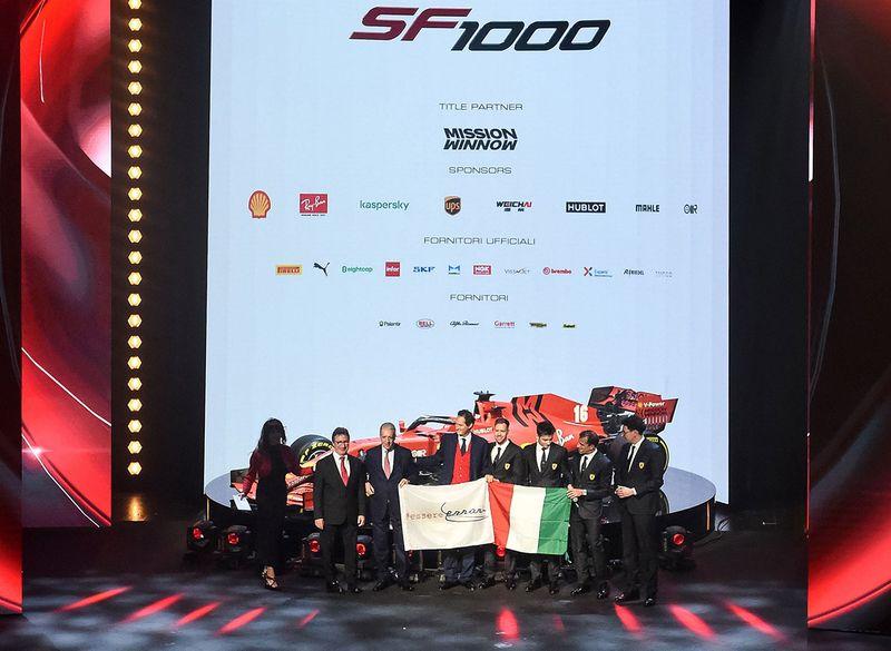 Ferrari promote new car 2020
