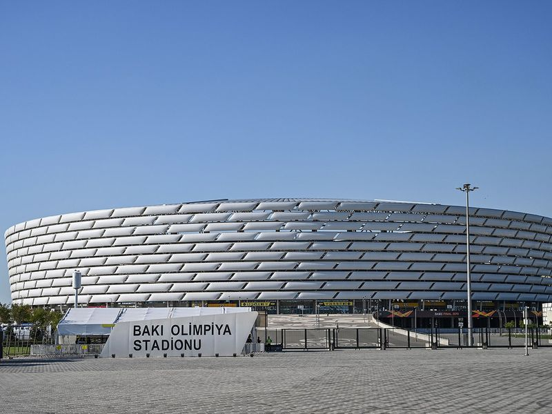 Baku Olympic stadium before the UEFA Europa league final football match