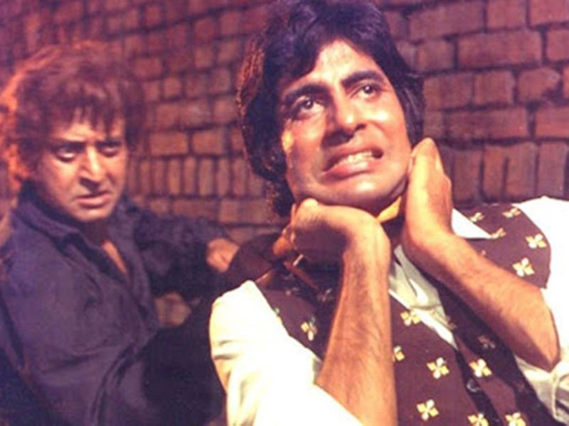 Pran with Amitabh Bachchan