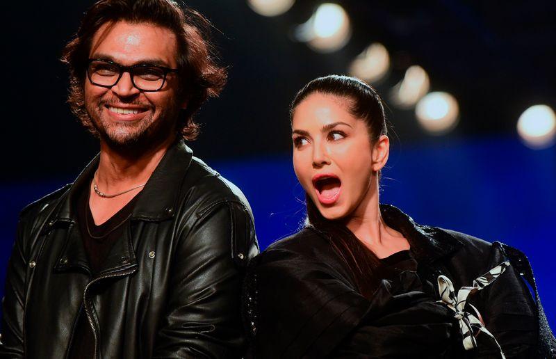 Sunny Leone with designer Swapnil Shinde