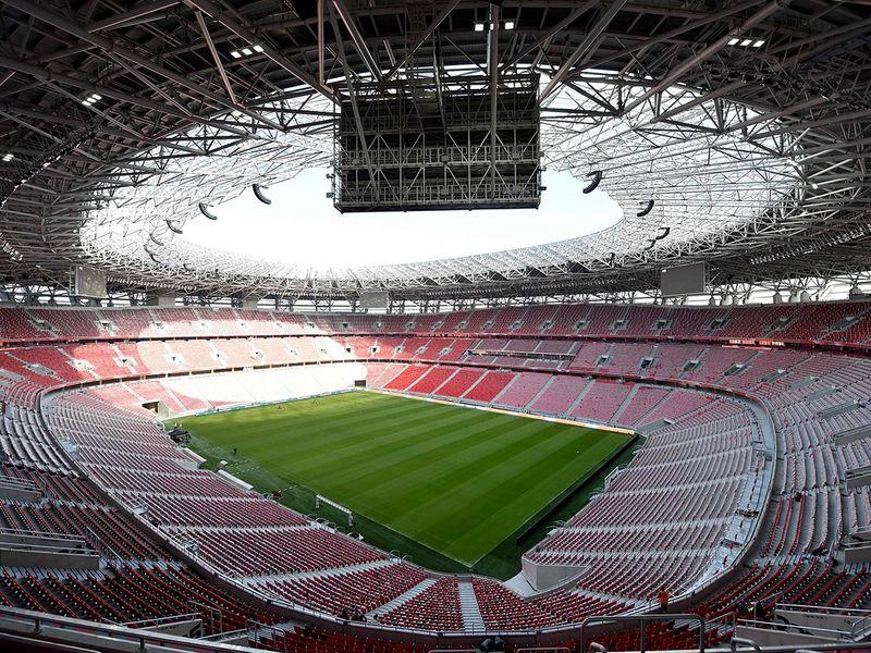 The Puskas Ferenc Arena football stadium in Budapest.