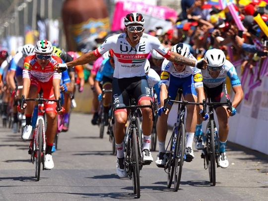 UAE Team Emirates' Manolo wins in Colombia