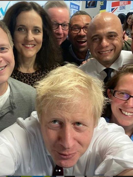 UK Prime Minister Boris Johnson with his cabinet colleagues