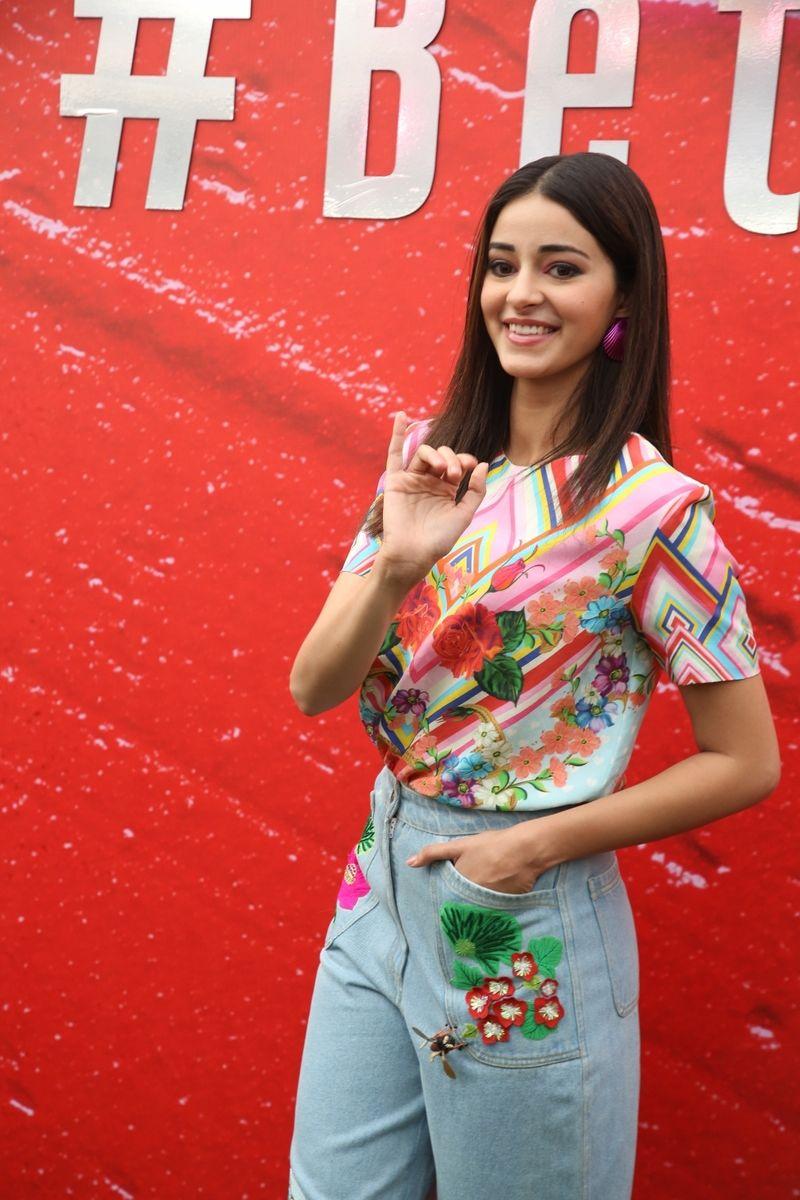 Actress Ananya Panday at fashion designer Anaita Shroff's
