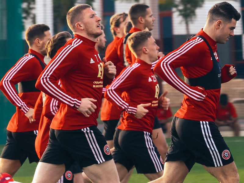 Sheffield United train at Dubai English Speaking College in the UAE