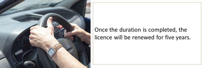 Licence renewal 5