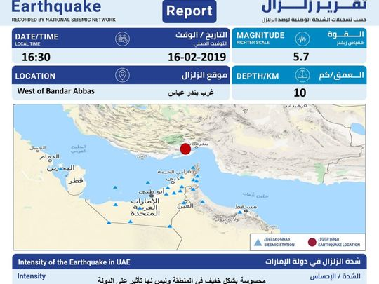 NCM earthquake notification