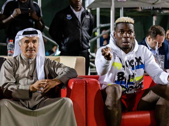 Saeed Hareeb and Paul Pogba in Dubai