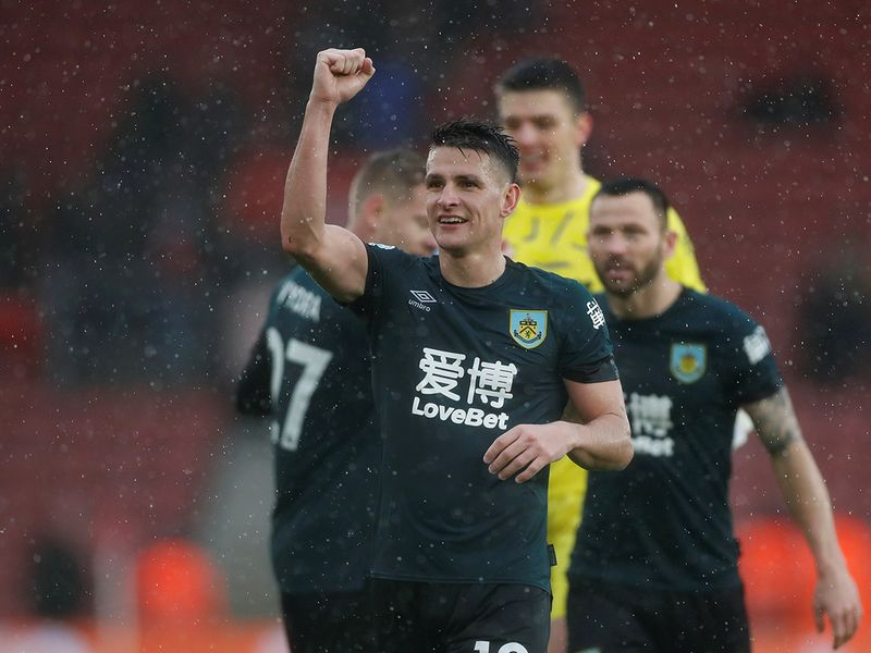 Soccer Football - Premier League - Southampton v Burnley - St Mary's Stadium, Southampton, Britain - February 15, 2020  Burnley's Ashley Westwood celebrates after the match