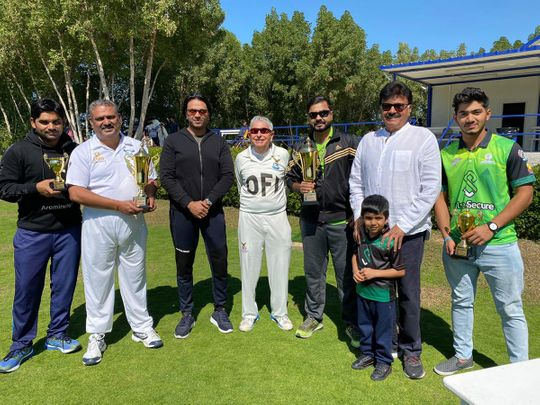 Winners and runners up captains and individual award winners of the Shijana Cup. Picture: Organisers