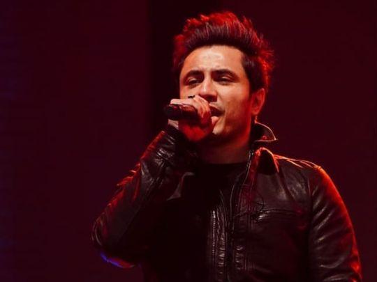 Ali Zafar performing at a recent concert-1581933053638