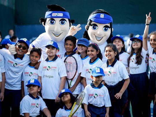 Children from six schools enjoyed the WTA JP Morgan Kids Day
