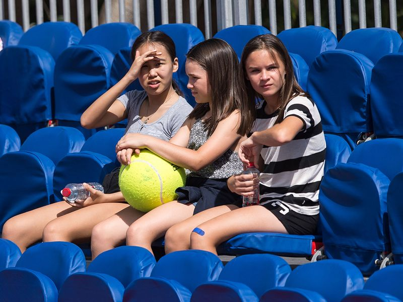 Fans watch the action at the Dubai Duty Free Tennis Championships