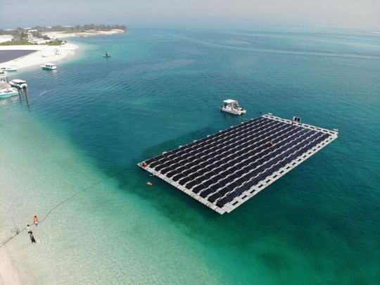 Floating Solar Power Plant by enerwhere