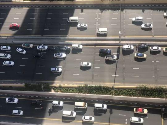 Nine car crash on Sheikh Zayed Road