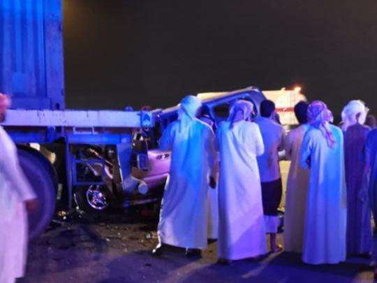 RAK truck car crash