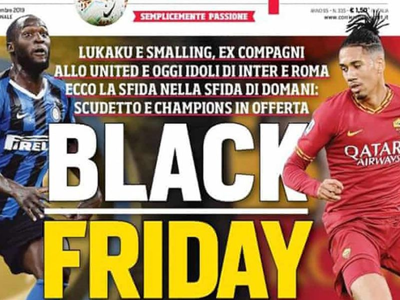 Thursday's Corriere dello Sport front page. Image: Corriere dello Sport