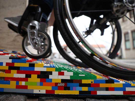 'Lego grandma' builds wheelchair ramps from donated lego bricks
