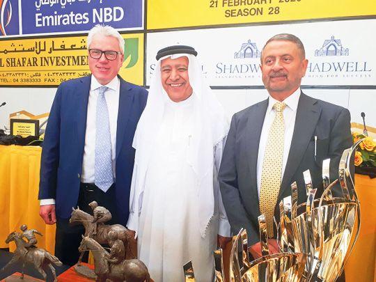 Mirza Al Sayegh (C1), Shareef al Halwani (R) and Ed Prosser