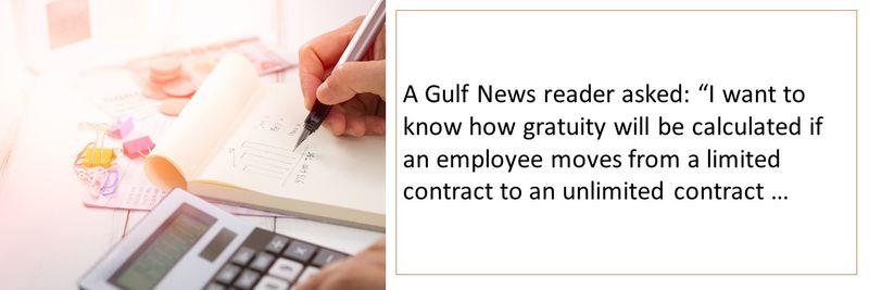 UAE gratuity calculation 1