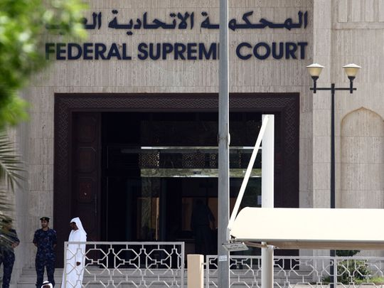 View from outside UAE's Federal Supreme Court in Abu Dhabi