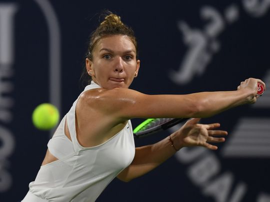 Halep stays on course at Dubai Women's Open