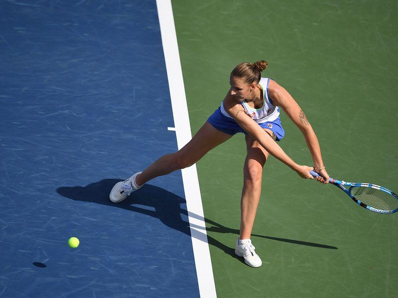 Karolina Pliskova during the WTA Dubai Duty Free Tennis Championship