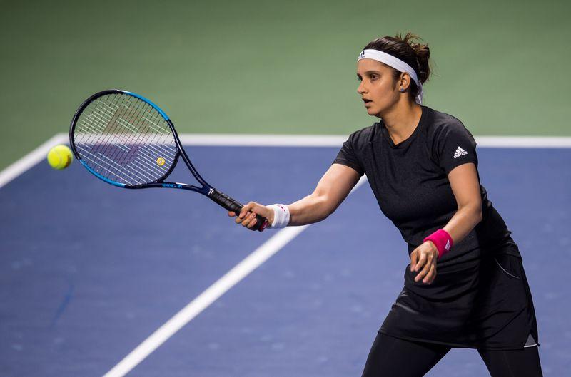 Sania Mirza in action in Dubai