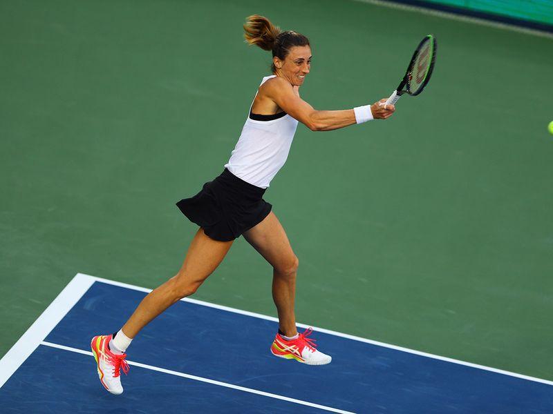 Kazakhstan's Elena Rybakina in action during her semi-final match against Croatia's Petra Martic   REUTERS/Ahmed Jadallah