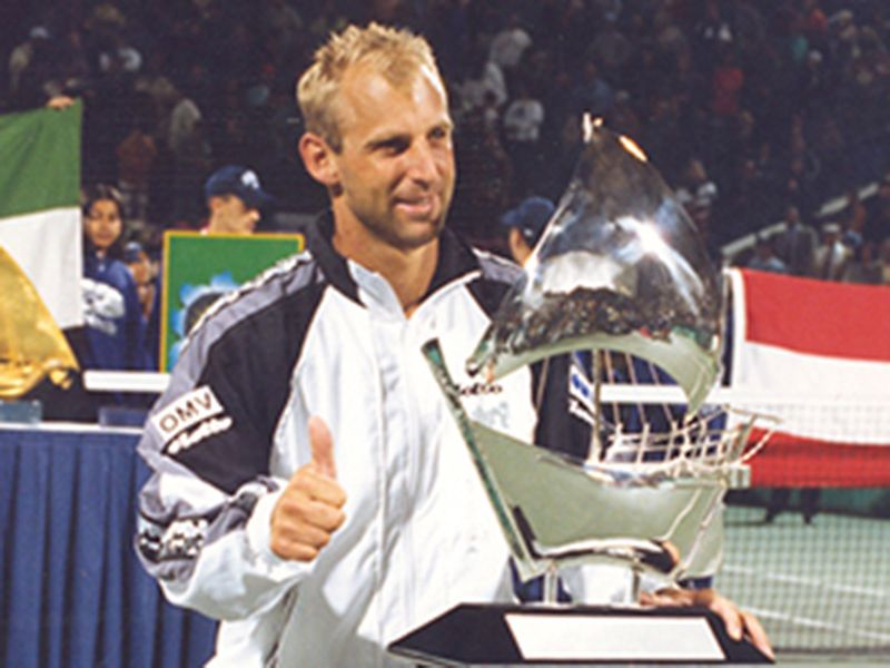 1997: Austria's Thomas Muster claimed the glory with a win in the final over Ivanisevic