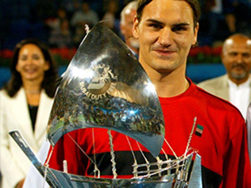 2004: Federer made it two on the trot in Dubai