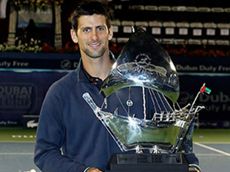 2011: Djokovic becomes the second man to win the Dubai title on three consecutive occasions