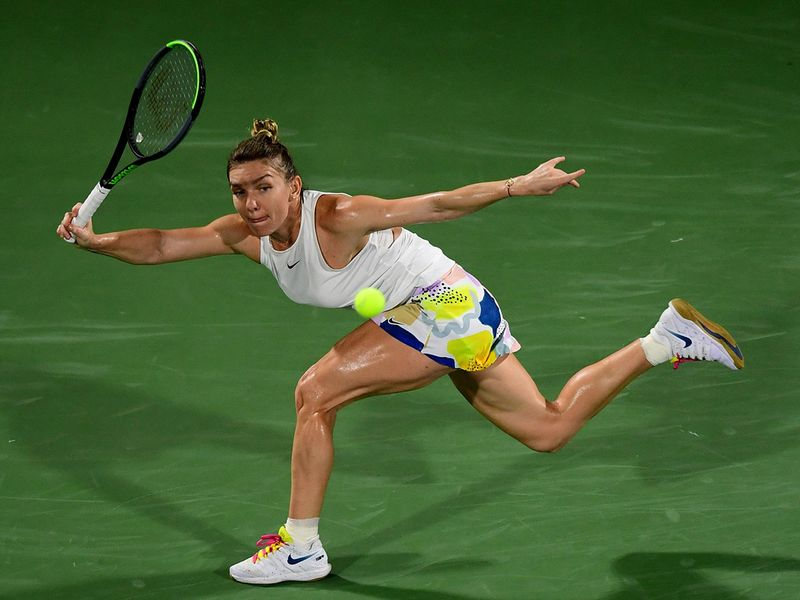Halep was in a class of her own as the Romanian blew away American Brady