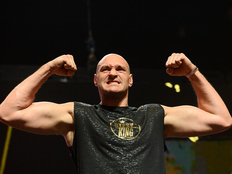 Tyson Fury at the weigh-in