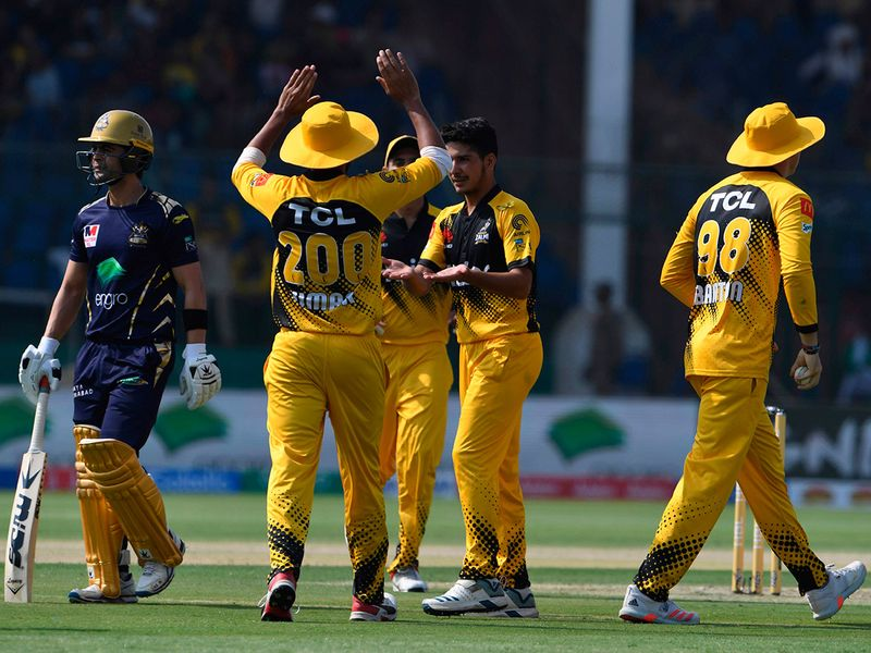 Wahab Riaz was among the wickets for Peshawar as he took 2-31