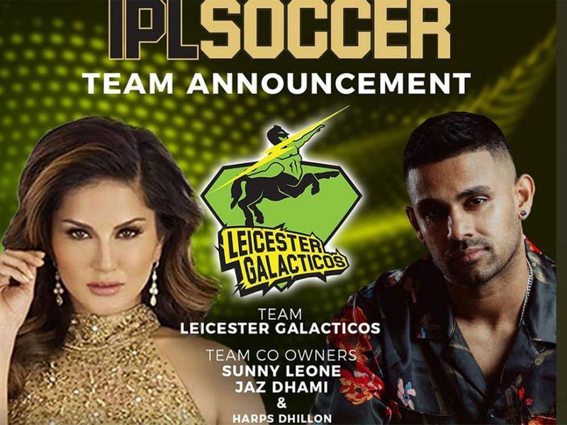 Bollywood actress Sunny Leone and artist Jaz Dhami