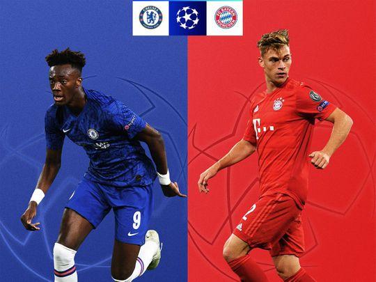Chelsea face Bayern on Tuesday
