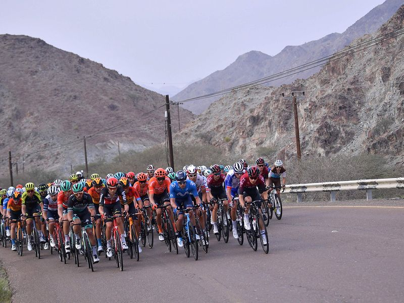 Cyclists take on the arduous climb to Hatta Dam