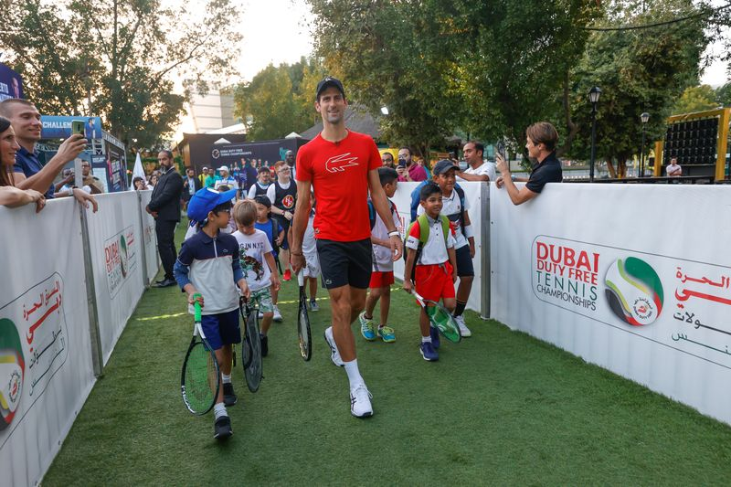 Novak Djokovic in Dubai